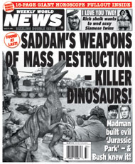 Saddam's Weapons of Mass Destruction - Killer Dinosaurs!